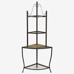 Corner Baker's Rack with Slate Top,