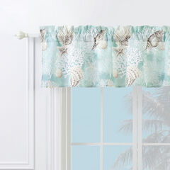 Ocean Turquoise Window Valance,