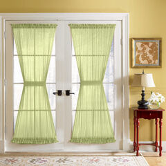 BH Studio® Sheer Voile Door Panel With Tiebacks,