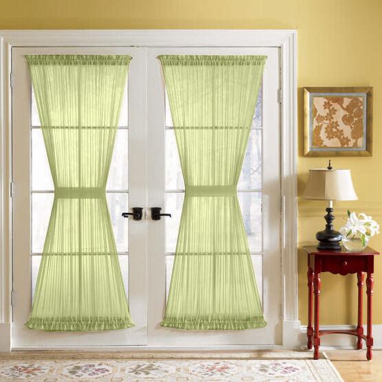 BH Studio® Sheer Voile Door Panel With Tiebacks,