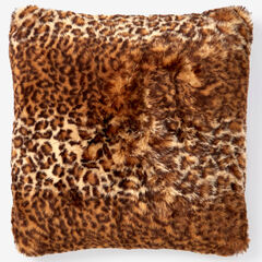 """Faux Fur Luxe 18"""" Square Pillow Cover, CHEETAH"""