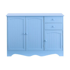 Cottage Kitchen Buffet Cabinet, LIGHT BLUE