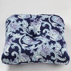 Tufted Wicker Chair Cushion, LAHAYE INDIGO