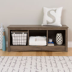 Simple Tri-Cubby Bench,