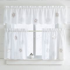 Snowflake Applique Cafe Curtains,