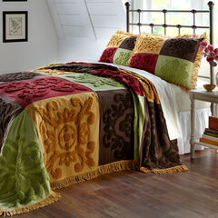 Chenille Patchwork Bedspread,
