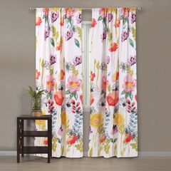 Watercolor Dream Gray Curtain Panel Pair by Greenland Home Fashions,