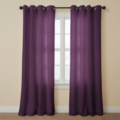 BH Studio Cotton Canvas Grommet Panel, AUBERGINE
