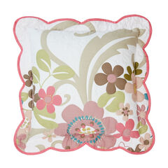 "Jardin 16"" Decorative Pillow, WHITE PINK"