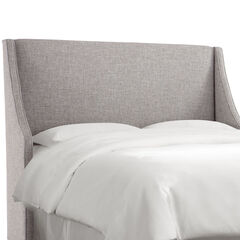 Swoop Arm Wingback Headboard, ZUMA PUMICE