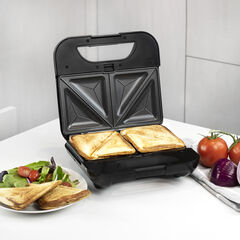 Kalorik 4-in-1 Sandwich Maker, Stainless Steel and Black,