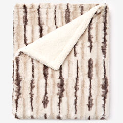 Faux Fur Animal Print Throw,