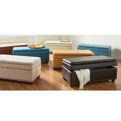 Extra Wide Ottoman With Studs,