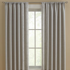 Suffolk Embroidered Reversible Rod-Pocket Panels, GRAY