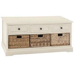 White Traditional Wood Storage Unit, 20 x 42,