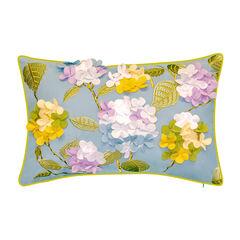 Indoor & Outdoor Dimensional Hydrangea Lumbar Decorative Pillow,