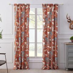 Menagerie Saffron Curtain Panel Pair,
