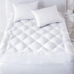 300-TC. Luxury Puff Mattress Topper & Free Pillows,