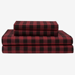 Flannel Printed Sheet Set, BUFFALO PLAID