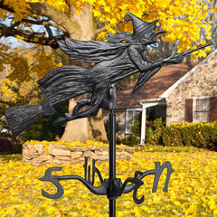 Flying Witch Garden Weathervane,
