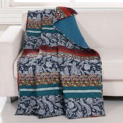 Barefoot Bungalow Vista Quilted Throw Blanket,