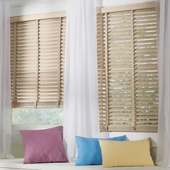 "2"" Faux Wood Cordless Blind , CREME"