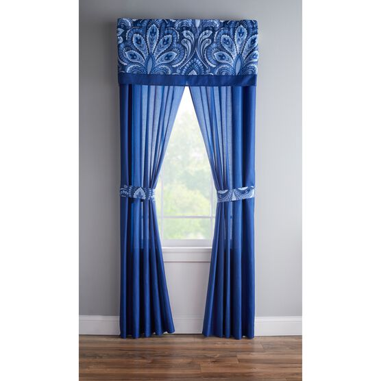 James Panel Set with Tiebacks, BLUE