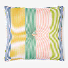 "Coastal Stripe 16"" Sq. Pillow,"