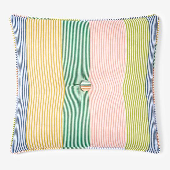 "Coastal Stripe 16"" Sq. Pillow, STRIPE MULTI"
