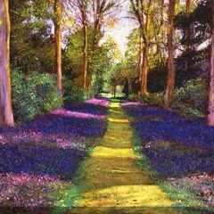 Blue Path Outdoor Canvas Art,