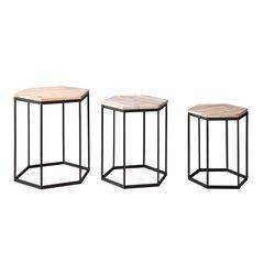 Layton Set of 3 Nesting Sexagon Tables ,