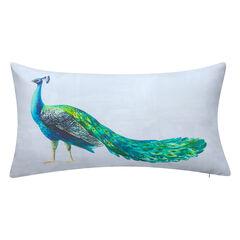 Indoor & Outdoor Dramatic Peacock Lumbar Decorative Pillow,