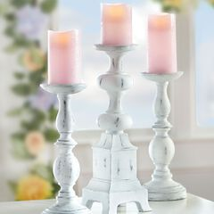Pink Battery-Operated Candles, Set of 3,