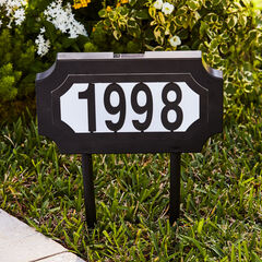 Solar Light House Number Plaque,