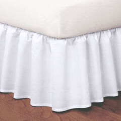 Magic Ruffle Bedskirt, WHITE