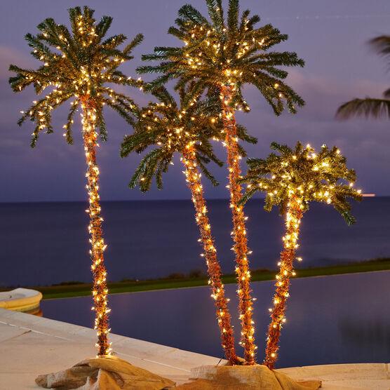 3 D Pre Lit Palm Tree Brylane Home, Outdoor Led Palm Tree