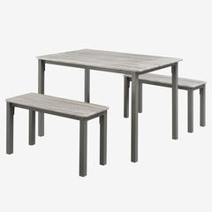 Boltzero Dining Table with 2 Benches,