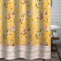 Finley Yellow Bath Shower Curtain,