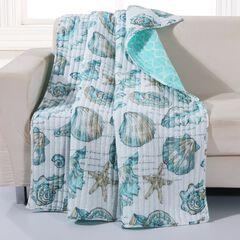 Barefoot Bungalow Cruz Quilted Throw Blanket,