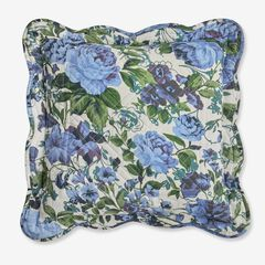 "Florence 16"" Square Pillow, NAVY FLORAL MULTI"