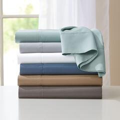 600-TC 6-Pc. Solid Cotton Blend Sheet Set ,