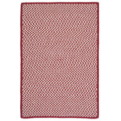 Houndstooth Twist Red Rug,