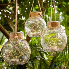 Pre-Lit Hanging Ball Lantern,
