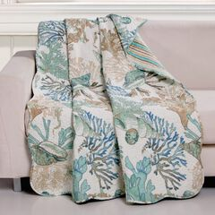 Barefoot Bungalow Atlantis Quilted Throw Blanket,