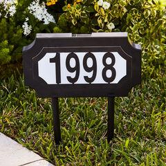 Solar Light House Number Plaque,
