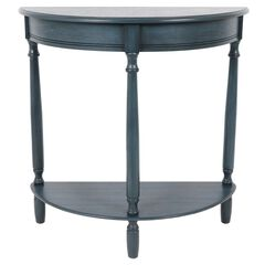 Demilune Antique Navy Console by J. Hunt,