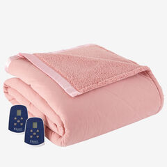 Micro Flannel® Reverse to Sherpa Electric Blanket,
