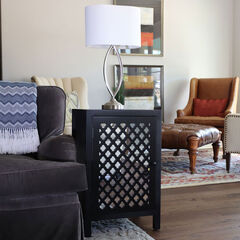 Quatrefoil End Table,