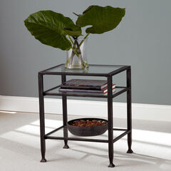 Metal End Table,
