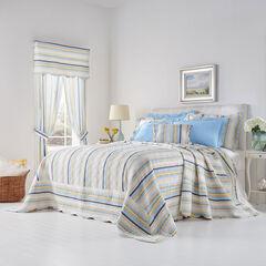Florence Oversized Bedspread, SKY BLUE STRIPE